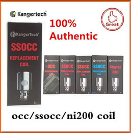 100% Authentic Kangertech SSOCC Coils Kanger atomizer head 0.15 0.5 1.2ohm for kanger Subtank nano Mini Nebox Subvoid fast shipping