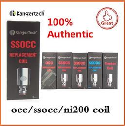 100% Authentic Kangertech SSOCC Coils Kanger atomizer head 0.15 0.5 1.2ohm for kanger Subtank nano Mini Nebox Subvoid fast shipping
