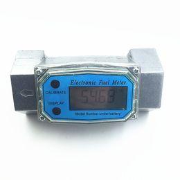 Wholesale digital fuel flow meter diesel gasoline methanol water flowmeter counter alcohol caudalimetro fuel flow sensor indicator gauge