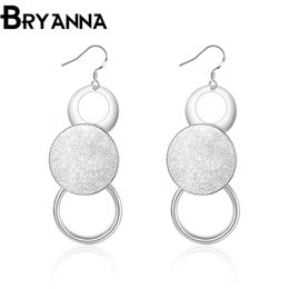 Bryanna 925 Sterling Silver Charm Earrings for women Fashion Jewelry Wholesale Wedding Gifts Round Drop Earrings E2012