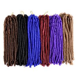 Rastas tejen en Línea-14 inch 70g / pack falso locs crochet el pelo negro de los dreadlocks El pelo sintético de la trenza del ganchillo La Habana Mambo Faux Locs que teje