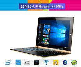 Descuento ips tableta al por mayor Venta al por mayor-Original Onda Obook 10 Pro Obook10 Pro Windows10 Tablet PC 10.1 '' IPS 1920 * 1200 IntelCherry-Trail Atom X7-Z8700 4G Ram 64G Rom