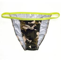 Impression poly en Ligne-Bikini String Homme G7424 Fashional Panties Contoured Pouch Camouflage Feuilles Impressions Soft Comfort mens sous-vêtements