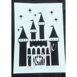 New Arrivals painting stencils for kids Masking template For Scrapbooking,cardmaking,DIY cards,wall and more-The castle 386