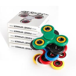 2017 El más nuevo Fidget Spinner de mano Spinner Tri Fidget de acero de rodamiento de bolas escritorio de juguete de enfoque EDC para el tiempo de matar a los niños Adultos Juguetes de descompresión desde bolas de rodamiento fabricantes