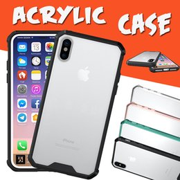 Acrylic Air Cushion Hybrid Armor Shockproof TPU Clear Transparent Cover Case For iPhone XS Max XR X 8 Plus 7 6 Samsung Galaxy S9 S8 A8 Note