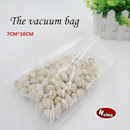 7*10cm Nylon vacuum bag food grade  Thickening  Kitchen supplies   Saving storage bag   Keep Food Fresh . Spot 100  package