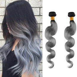 8A Resika Cheap Brazilian Virgin Hair Straight Body Wave Unprocessed Brazilian Human Hair Weave Bundles T1B Gray 2pcs Can be Dyed Grace Hair