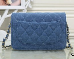 Free shipping Fashion women's Bags 2017 Ladies handbags designer bags women denim tote bag luxury brands Chain bags Single shoulder bag