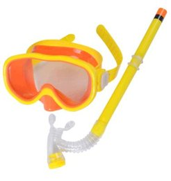 Natation costume sec en Ligne-Les nouveaux hommes et les femmes de natation des lunettes de natation miroir costume un tube de respiration demi-snorkeling lunettes de natation