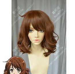 Wholesale peruca hair queen Sounded Euphonium Oumae Kumiko Medium Rinka Haircut Cosplay Party Wig HairParty cosplays heat resistant B032