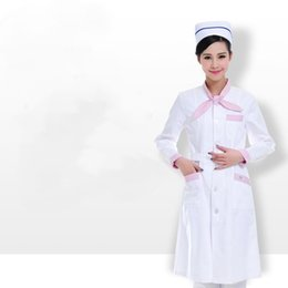 knot nurse winter uniform long sleeve Beauty at the front desk receptionist DaoYi pharmacy overalls T - 56