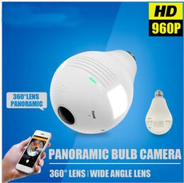 Mini cámaras wi fi en Línea-1.3MP Cámara IP inalámbrica Cámara Wi-Fi Cámara Wi-Fi MINI E27 Lámpara CCTV Vigilancia de red Detección de movimiento Home Panorámica Camara