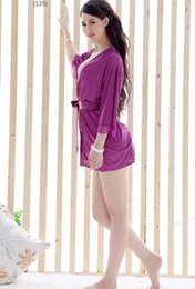 Free shipping hot sale 2017 Sexy Direct selling sex underwear bathrobe temptation suits European and American women's sexy pajamas
