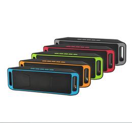 Acheter en ligne Boîte de haut-parleur de radio-10 Piece Bluetooth HIFI Outdoor Subwoofer Haut-parleur Grande puissance FM Radio USB amplificateur stéréo Sound Box avec microphone Livraison gratuite