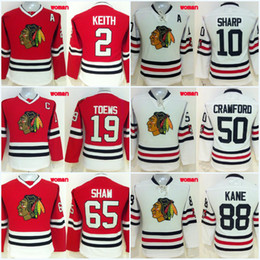 Lady Chicago Blackhawks Jersey 2 Duncan Keith 10 Patrick Sharp 19 Jonathan Toews 88 Patrick Kane 100% Stitched Embroidery Logos Jerseys