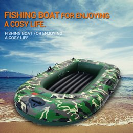 Wholesale 1 Set Person Military Inflatable Rubber Fishing Boat Convertible Motor Ship Safety Recue Boat with Paddles Pump Rope