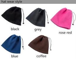 Mejores bufandas de moda en Línea-Las bufandas del anillo del invierno de los hombres de las mujeres de la manera forman el casquillo multi funcional del sombrero de la gorrita tejida del balaclava del esquí del calentador del cuello de Snood que envía libremente