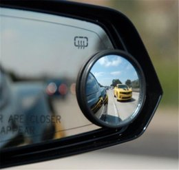 Wholesale 2pcs SET universal Driver Side Wide Angle Wideangle Sticker Round Convex Car Vehicle Mirror Blind Spot Auto RearView for all car