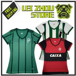 Best stock quality 2017 18 Palmeiras women's home away soccer jerseys 2018 CR Flamengo women's young girls sports football SHIRTS