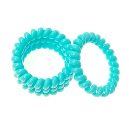 2017 New Hot SELL Women's Hair Accessories,Sky Blue Color Spring line Hair rubber Bands ,High quality Elastic Hair Bands A215