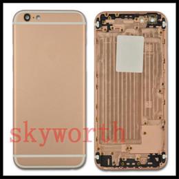 Logos sim en Ligne-Parfait! Pour iPhone 7 6 6S + plus 4.7 Batterie 5,5 Aluminium Boîtier arrière Remplacement de la housse + Boutons latéraux Logo de la carte SIM