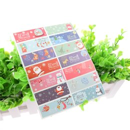 100pcs Merry Christmas Snowman Tree Badge Kraft Paper Sticker tags Labels Seal Envelope Gift Box Wrapping Baking Decor packaging Label
