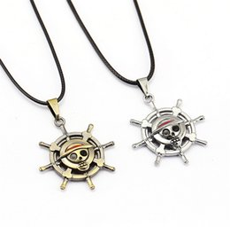 Hot One Piece Monkey D Luffy Necklace Unisex New Metal Pendant Popular anime necklace