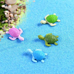 Cute Tortoise Sea Turtle Ecological Bottle Ornaments Seaview Decoration Moss Terrarium Micro Landscape Accessories Fairy Garden DIY Material