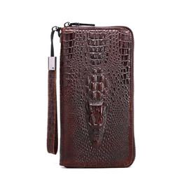 Brand New Designer 100% authentique 3D crocodile couche supérieure Cowhide leanther monnaie sacs à main d'embrayage sac à main de téléphone portable (style deux) à partir de téléphones cellulaires concepteur fabricateur