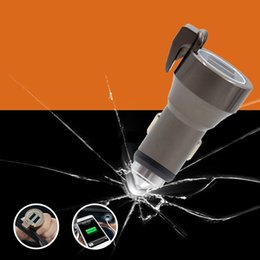 Wholesale 2016 new Metal Dual USB Car Charger Adapter with Safety Hammer and Seat belt Cut CE FCC RoHS Certification for Smartphones