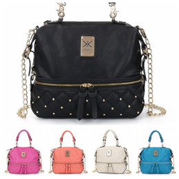 Wholesale Kim Kardashian Kollection Shoulder Bag KK Women Rivet Designer Bag Handbags Fashion Bucket Gold Chain Messenger Bags F303