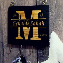 2016 new personalized key holder key hanger for wall custom wall key racker name sign receive a frame