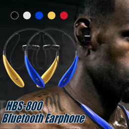 HBS800 Wireless Headphone Sport Neckband Headset BT4.0 Stereo Earbuds Headphones For IOS and Android Cellphones with Retail Box