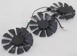 Free shipping T129215SU Cooling Fan for Video Card For ASUS STRIX GTX980Ti R9 390 3pcs fans 12V