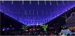 Promotion rgb led net 1.5m * 1.5m Net Lights 6w 100 LED Net Mesh feux de fées décoratifs Twinkle Lighting Fête de mariage de Noël US / EU / UK / AU 110-240V