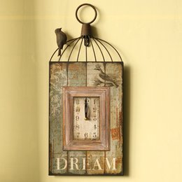 Wholesale American style home accessories decoration vintage retro antique finishing bell ornaments crafts wrought iron wall clock