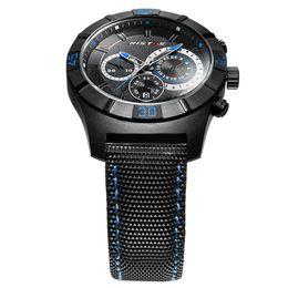 Ristos Watches Men Luxury Brand Quartz 30M Waterproof Analog Leather Strap Military Watch Simple relogio Clock Men Fashion Style