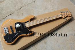 Vente en gros- Livraison gratuite Hot Sale Haute qualité F Marcus Miller Signature Jazz Bass 5 cordes Couleur naturelle Basse En stock @ 11 signature guitars for sale promotion à partir de guitares de signature à vendre fournisseurs