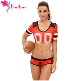 2017 uniforme rouge pour femmes Dear-Lover World Cup 4 Couleurs Sexy Red Fantasy Costume de Football Set Sports Cosplay Femmes Uniforme Sexy Cheerleader Costumes LC8891 17410 uniforme rouge pour femmes offres