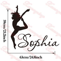 Sexy Dancer Dancing Personalized Wall Decals Custom Name Wall Sticker Decal For Bedroom DIY