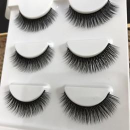 Promotion cils de scène Nouveau multi-couche fil de coton noir 3D épais cils faux croix Messy faits à la main naturelles cils yeux maquillage étape faux cils 40