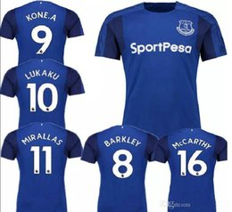 2017 2018 Everton home soccer jersey Top quality 17 18 Everton jerseys LUKAKU MIRALLAS LENNON BARKLEY football shirts Free shipping