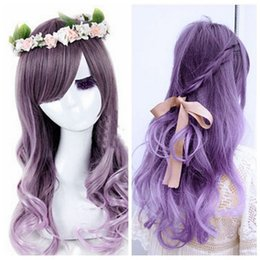 High Quality Fashion Picture full lace wigs >Fashion New Womens Lolita Curly Wavy Long Wigs Cosplay Party Full Hair Wig