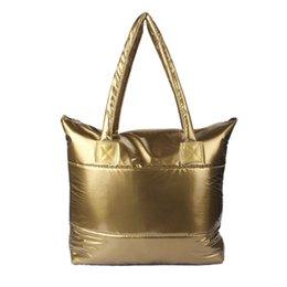 Wholesale New Design Hot Sale PC Women Girl Space Bale Cotton Totes Handbag Feather Down Shoulder Bag Jul11