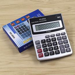 Vente en gros J922 KK800A Mini Office Calculator pour la comptabilité financière Desktop Calculator Livraison gratuite à partir de bureau de la calculatrice fournisseurs