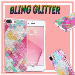 Rainbow Color Colorful 3D Scales Squama Bling Glitter Shining Sparkle Clear Soft TPU Case Cover for iPhone XS Max XR X 8 Plus 7 6 6S 5 5S