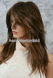 Wholesale cheap JASMINE Wigs Sexy Chestnut Golden Brown Blonde HL wig