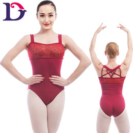 Free shipping 2017 New Adult Tank Leotard Lace Lilac Ballet Leotard A2011