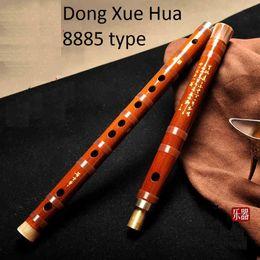 Wholesale DongXueHua model famous Handmade Musician quality grade Chinese Bamboo flute dizi Bass G A bB Key C D E F G musical instrument